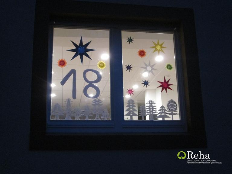 Adventsfensteröffnung in der Gaswerkstraße 8