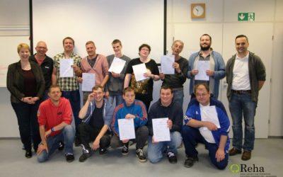 Zertifikatsübergabe Qualifizierungsbaustein Lager